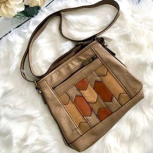 Bohemian handbag with adjustable shoulder straps